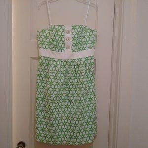 Lilly Pulitzer Dress Grass Green Star Fruit 8